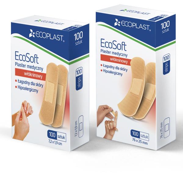 Plastry medyczne pakowane po 100 - EcoSoft
