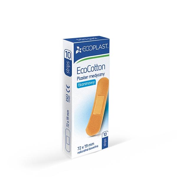 Plastry medyczne MiniPack - ecocotton 72x19
